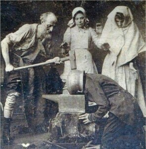 Лечение головной боли. 1895 год